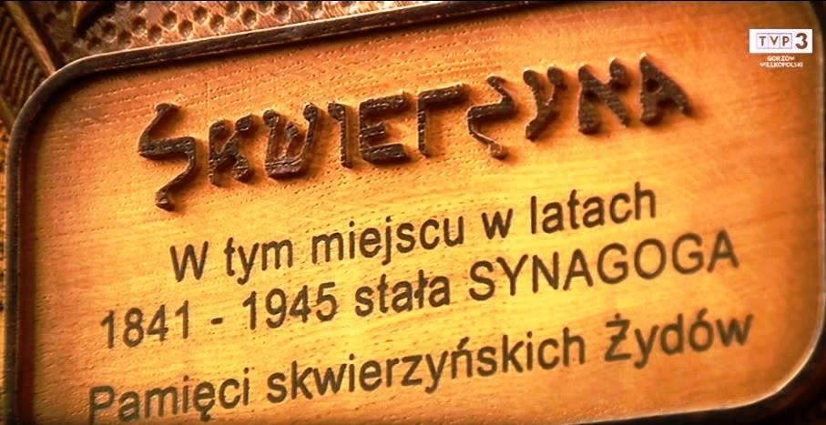 Na ul. Jagiełły, na miejscu dawnej synagogi, uroczyście odsłonięto tab…