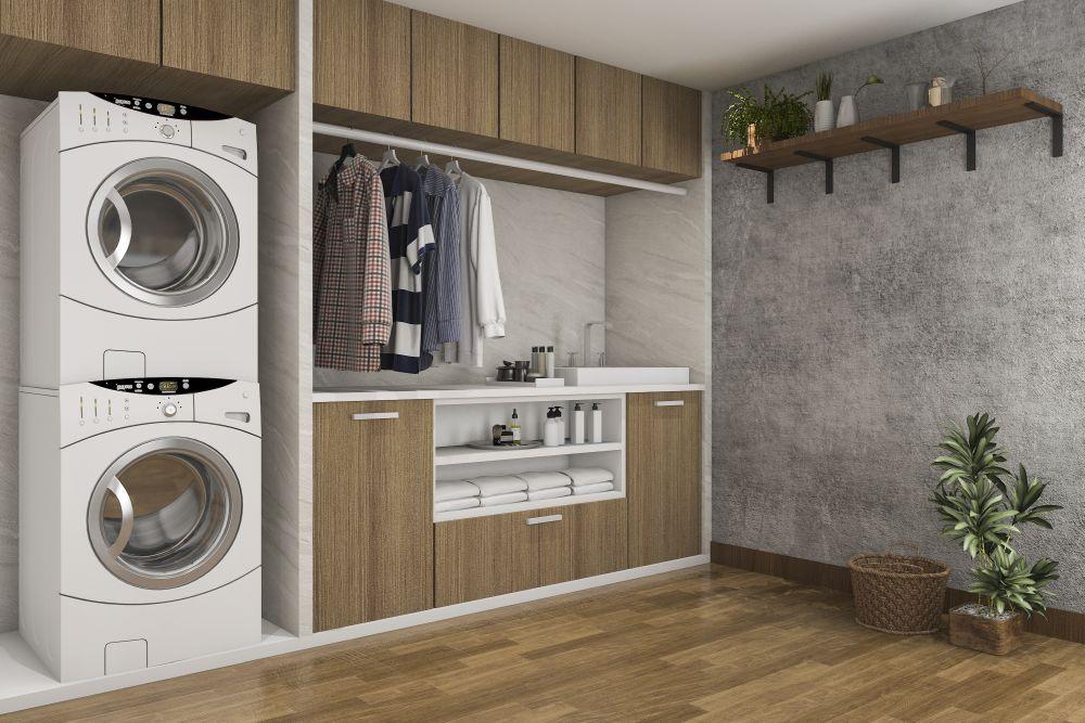 Słupek nad pralkę – ciekawe rozwiązanie do małych łazienek
